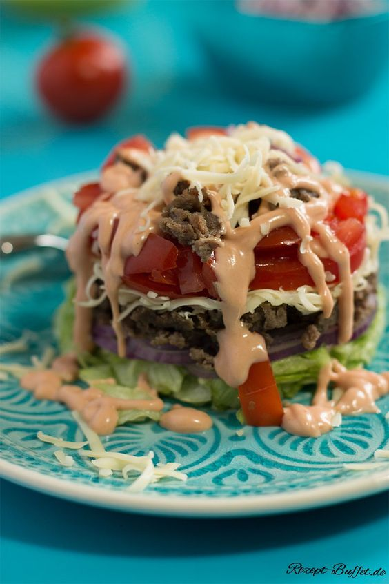 Low Carb - Cheeseburger Salat