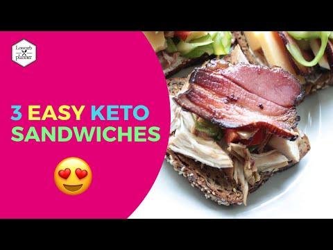 3 Awesome Keto Sandwiches | Adobo Sandwich, Asparagus Coppa Sandwich & Bacon Cheese Love