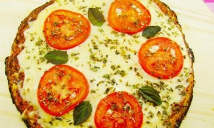 Pizza de abobrinha low carb