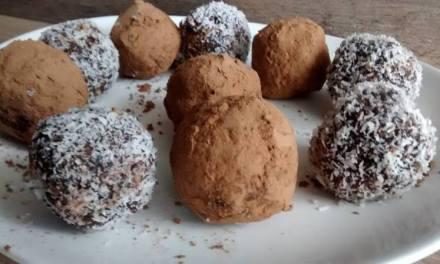 Trufa de chocolate low carb para sua sobremesa