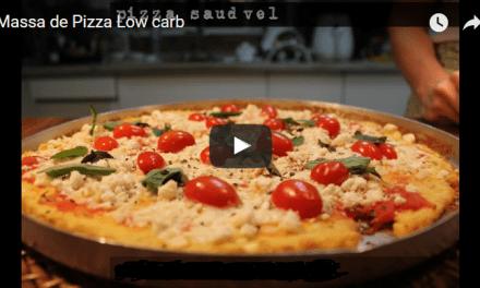 Pizza low carb massa de frango fácil e rápido de fazer