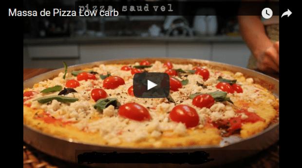 pizza low carb massa de frango