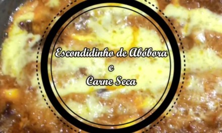 Escondidinho de carne seca low carb