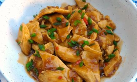 Receita de frango low carb em tiras á oriental