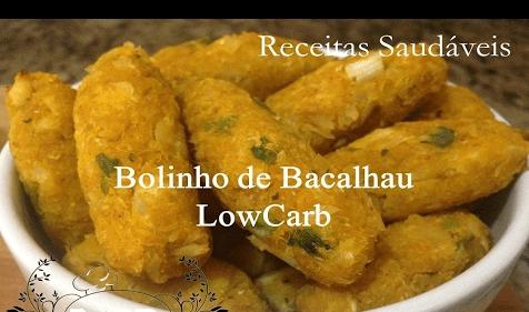 Bolinho de bacalhau low carb delicioso e muito prático