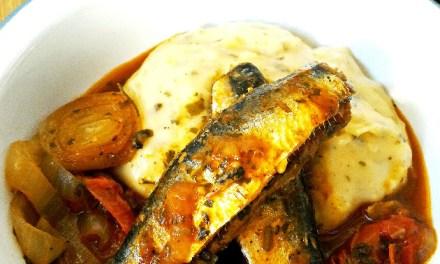 Receita low carb com sardinha a escabeche