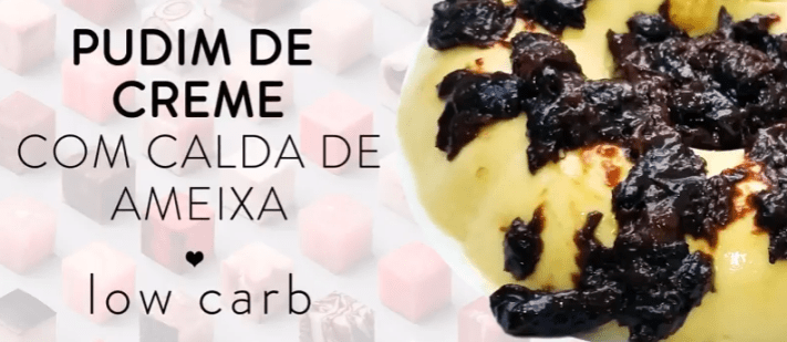 Pudim low carb receita