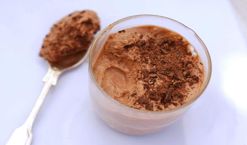 Receita Mousse de Chocolate Low Carb