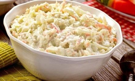 Receita de Salada de Maionese Com Repolho Low Carb