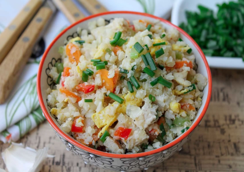 receita arroz com frango low carb