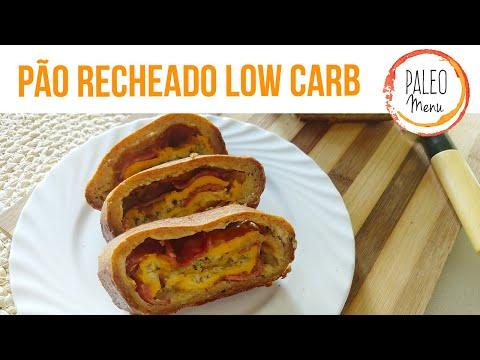 Pão Recheado Low Carb | Paleo Menu App