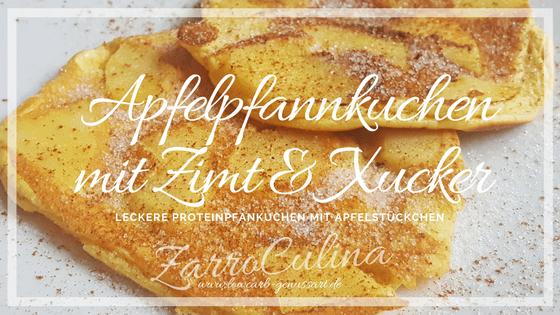 Apfelpfannkuchen mit Zimt & Xucker