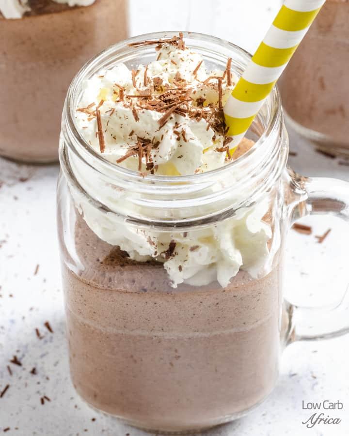 Keto Chocolate Almond Protein Shake