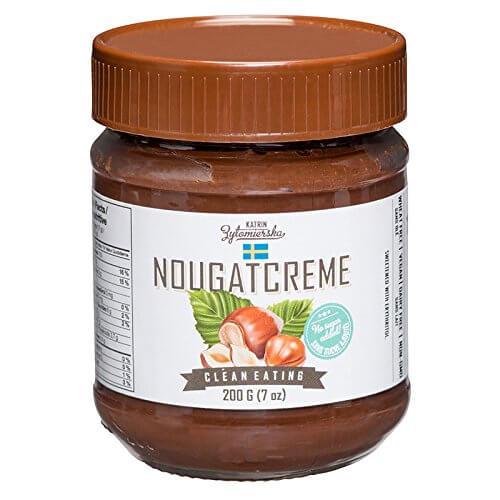 51A uYMb8ZL - KZ Clean Eating - Nougatcreme 200g (7oz) - Low Carb Sugar free All natural Non GMO Swedish
