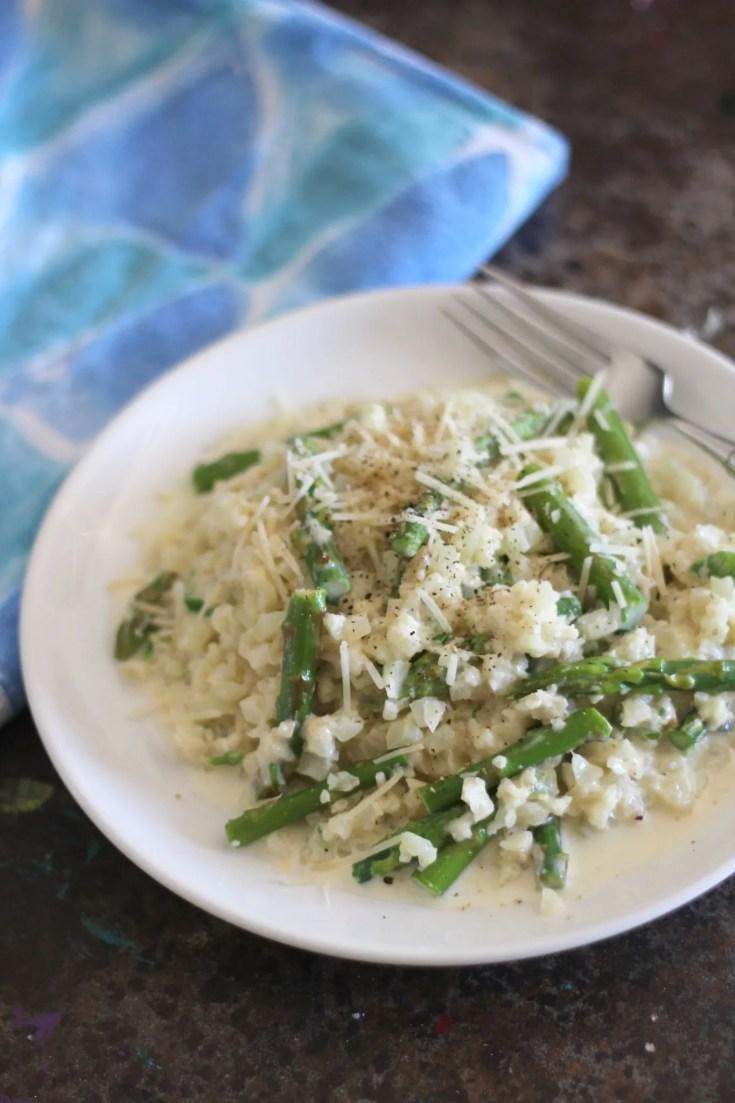 Creamy Asparagus Cauliflower Rice