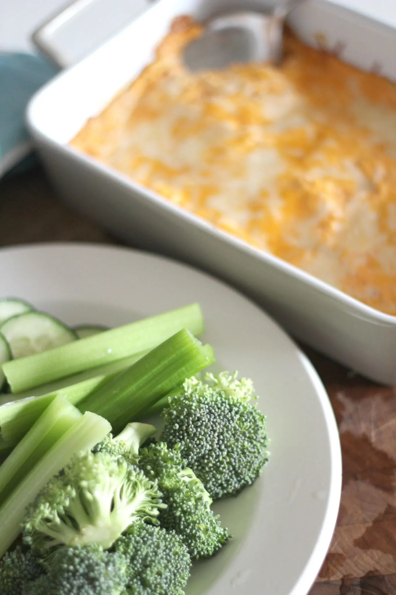 Quick and Easy Carb Buffalo Chicken Dip. Perfect recipe for game day or any day type of snack.