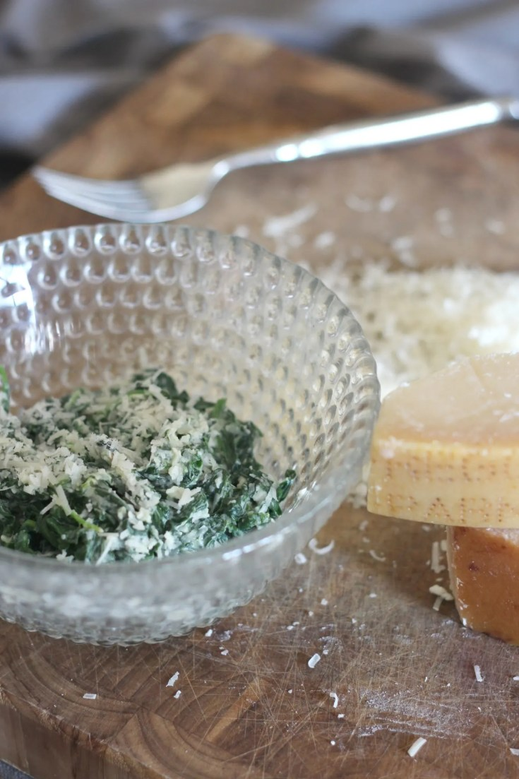 Garlic and Parmesan Creamed Spinach