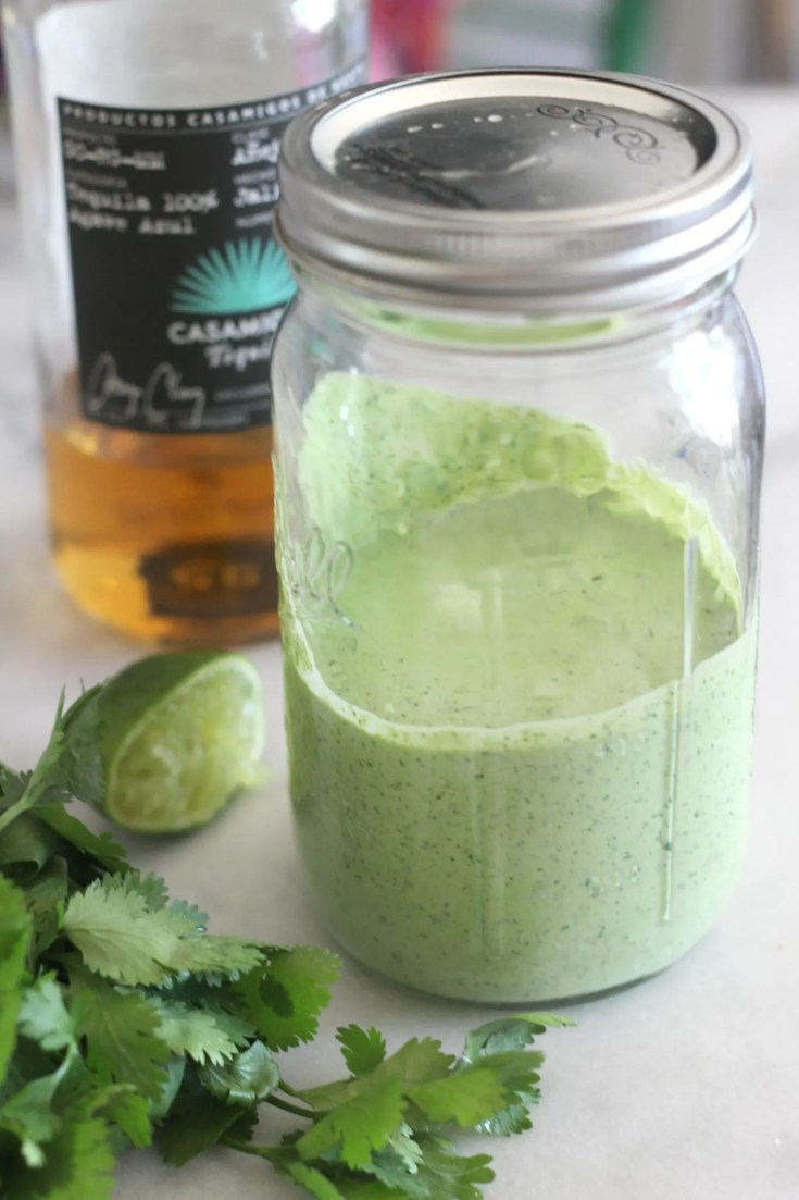 Creamy Tequila, Cilantro and Lime Salad Dressing