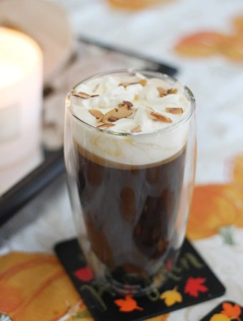 Sugar free white chocolate hazelnut butter coffee #bulletproofcoffee #ketocoffee #sugarfree #lowcarb #keto #coffee