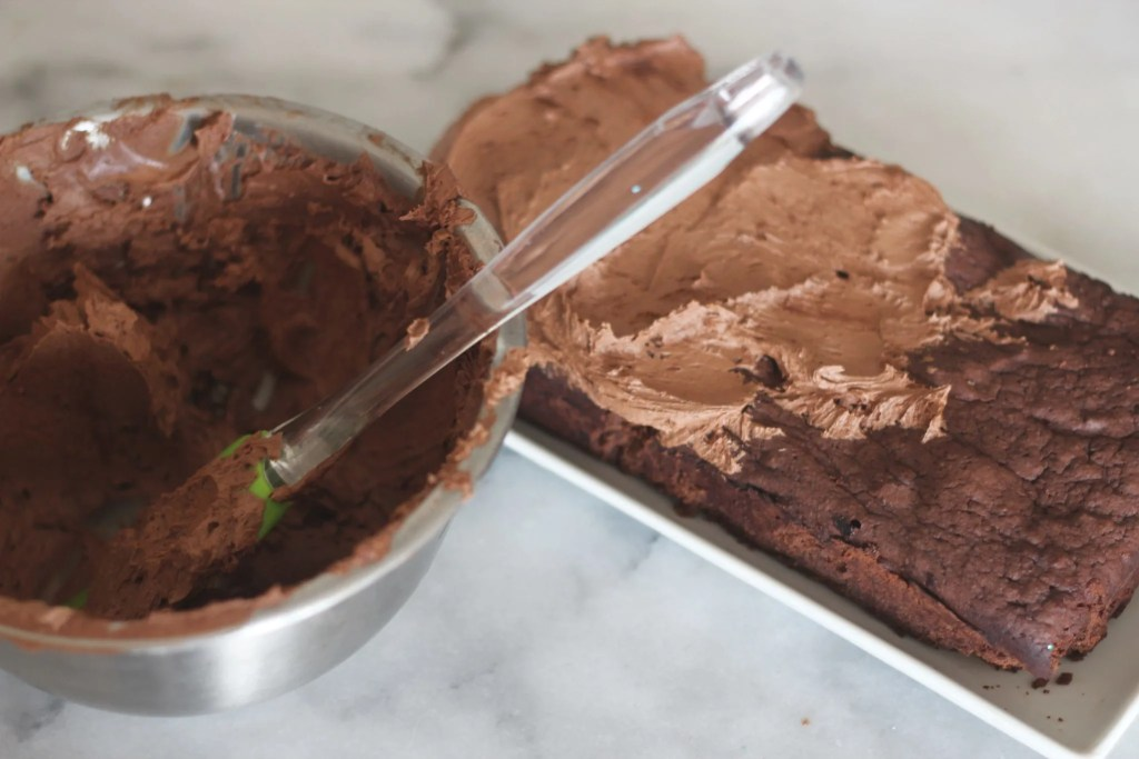 Make this low carb, rich, chocolaty torte and top it with a delicious low carb mocha buttercream frosting. #lowcarbdelish #ketodesserts #lowcarbdesserts, #sugarfreechocolate