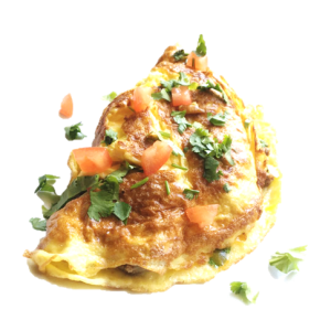 ground beef omelette