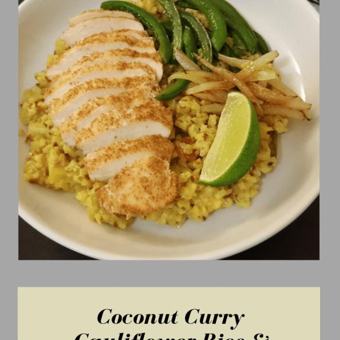 Coconut Curry Cauliflower Rice & Chicken (Spicy Optional)