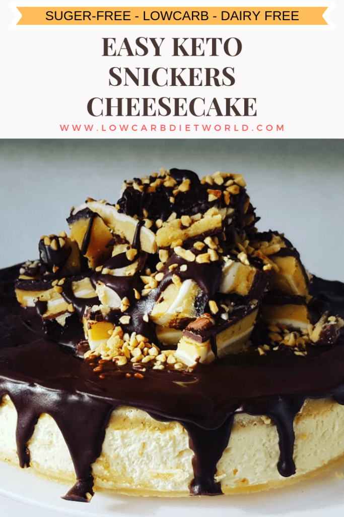Easy Keto Snickers Cheesecake