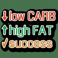 Low carb high fat success logo