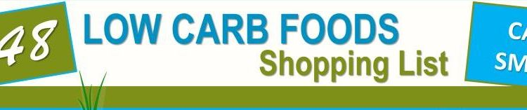 148 low carb foods shopping list infographic featured