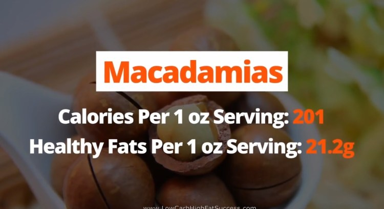 Macadamias - calories, fats, health benefits low carb food