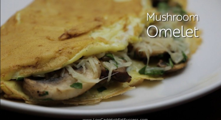 Mushroom Omelet Low Carb Ketogenic Diet Recipe