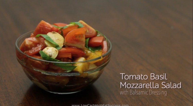 Basil Mozzarella Salad With Balsamic Dressing Low Carb Ketogenic Diet Recipe