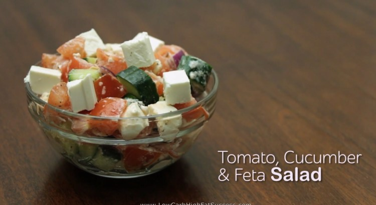Tomato Cucumber And Feta Salad Low Carb Ketogenic Diet Recipe