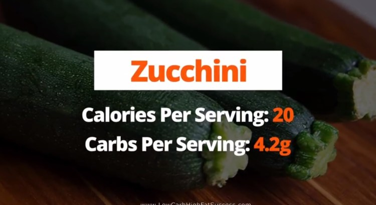 Zucchini - calories, carbs, health benefits low carb food
