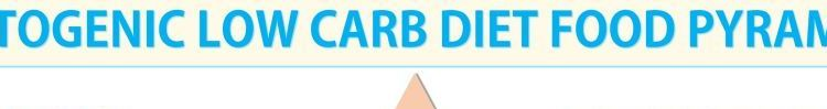 ketogenic low carb diet food pyramid infographic - feature