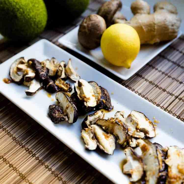 keto Japanese Shiitake Mushroom in Ginger Ponzu Sauce cover