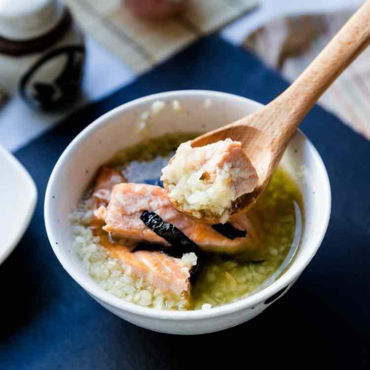 keto Japanese Salmon Breakfast Soup - Ochazuke cover