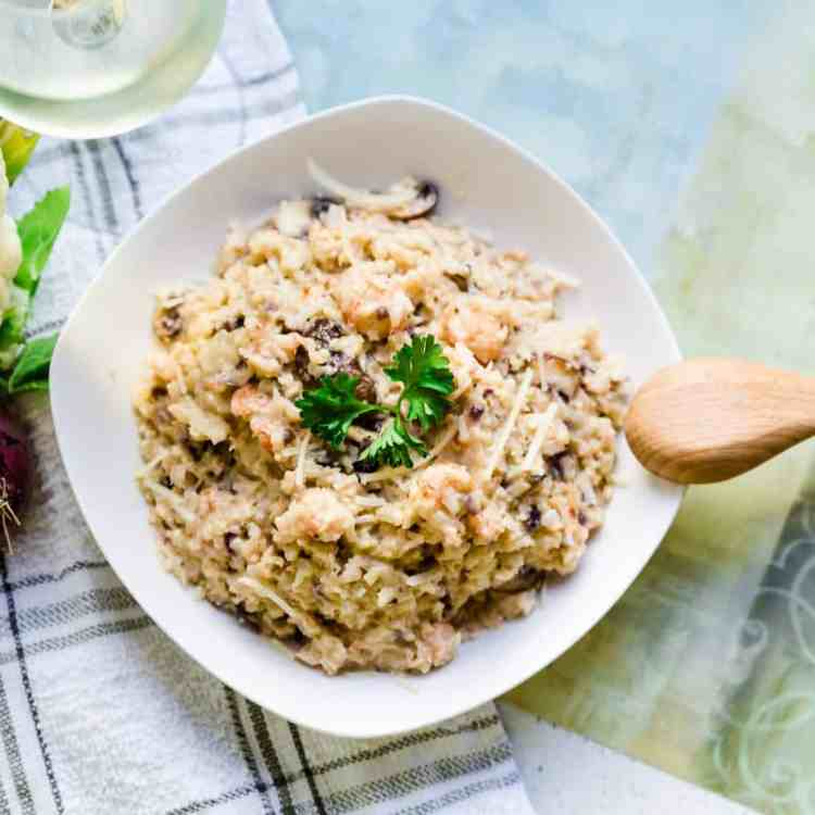 Keto Low Carb Lobster Risotto 1