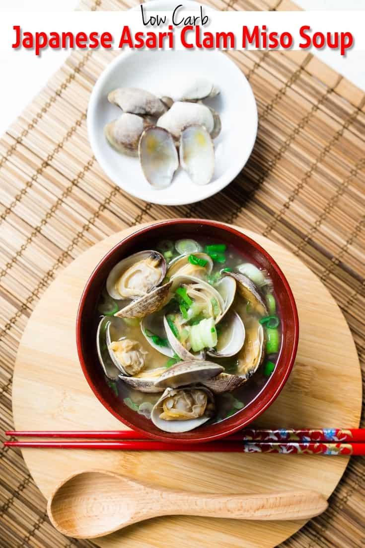 keto Japanese Asari Clam Miso Soup pin 2