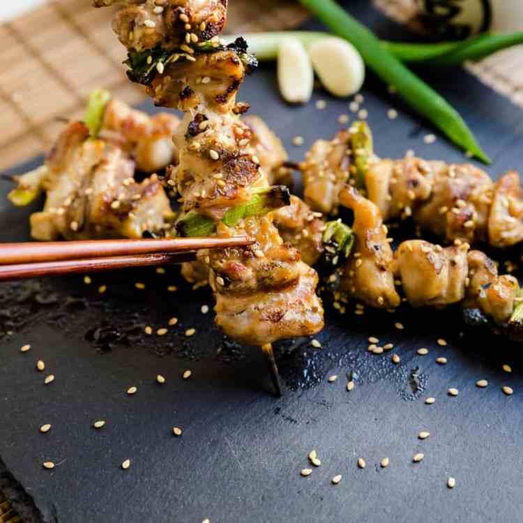 Keto Japanese Chicken Skewers - Yakitori Cover IG