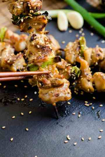 Keto Japanese Chicken Skewers - Yakitori Cover IG