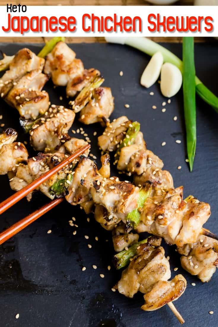Keto Japanese Chicken Skewers - Yakitori Pin 2