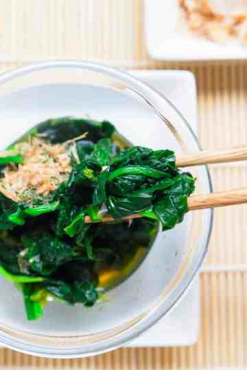 Keto Japanese Spinach Salad cover