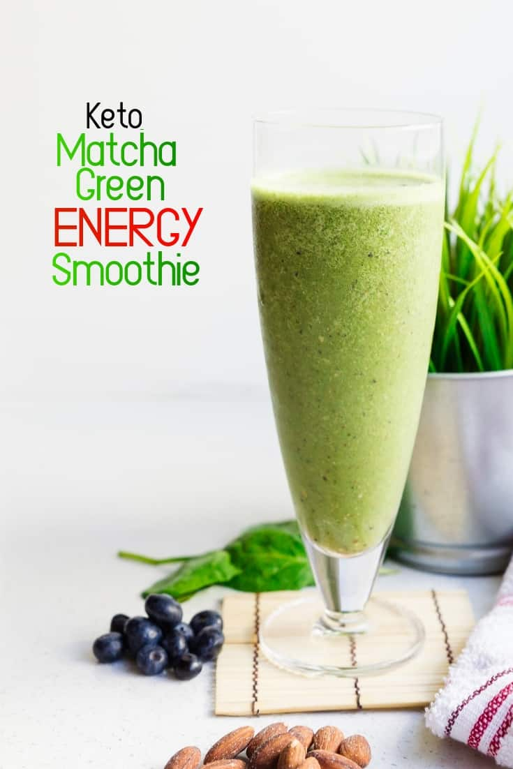 keto Matcha Green Energy Smoothie pin 2