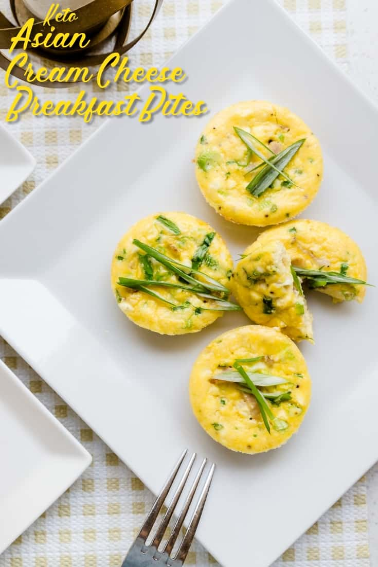 Asian Cream Cheese Breakfast Egg Bites LowCarbingAsian Pin 1