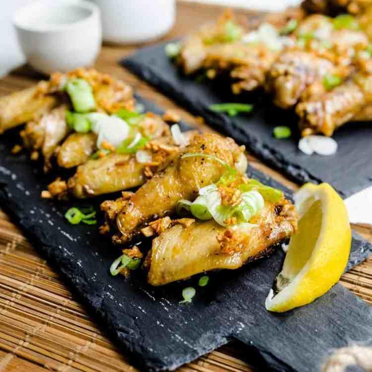 Keto Fried Japanese Garlic Chicken Wings Tebaksaki Age LowCarbingAsian Cover