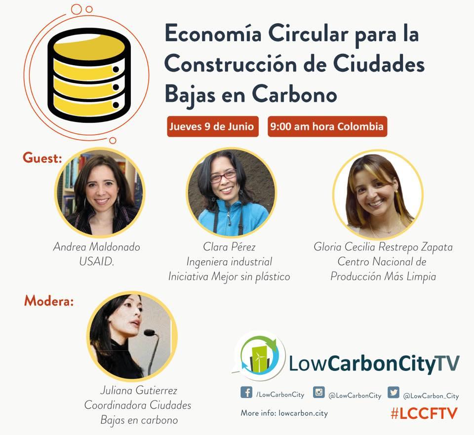 HangOut sobre Economía Circular para la Construcción de Ciudades Bajas en Carbono