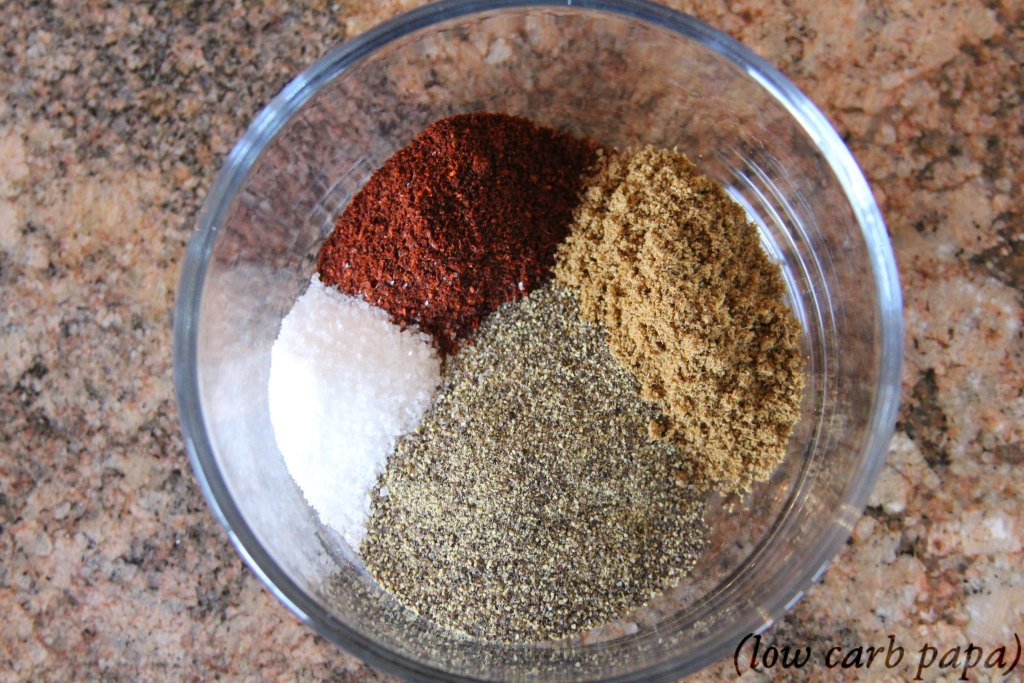 Spice blend used to make Texas Keto BBQ Sauce