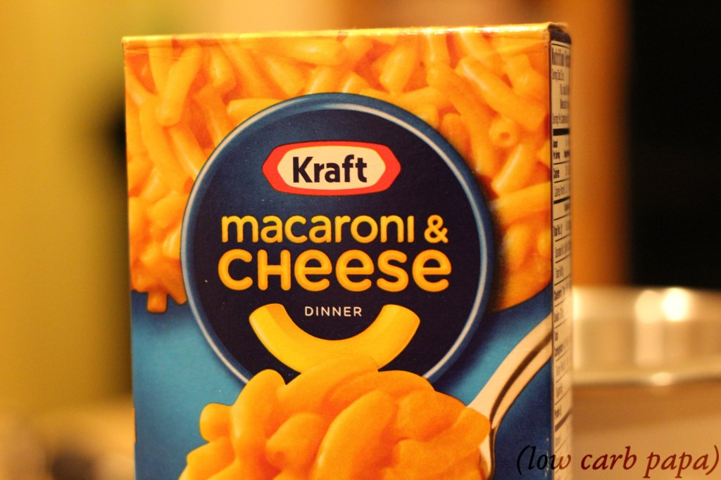 box of kraft macaroni and cheese used for making Microwave Pork Rinds