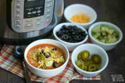 Low carb taco soup in the Instant Pot